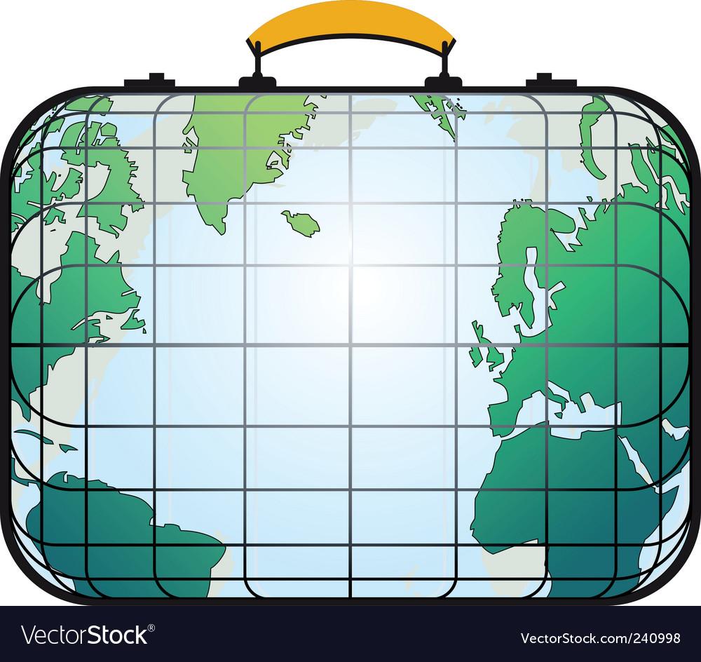 Suitcase like world map