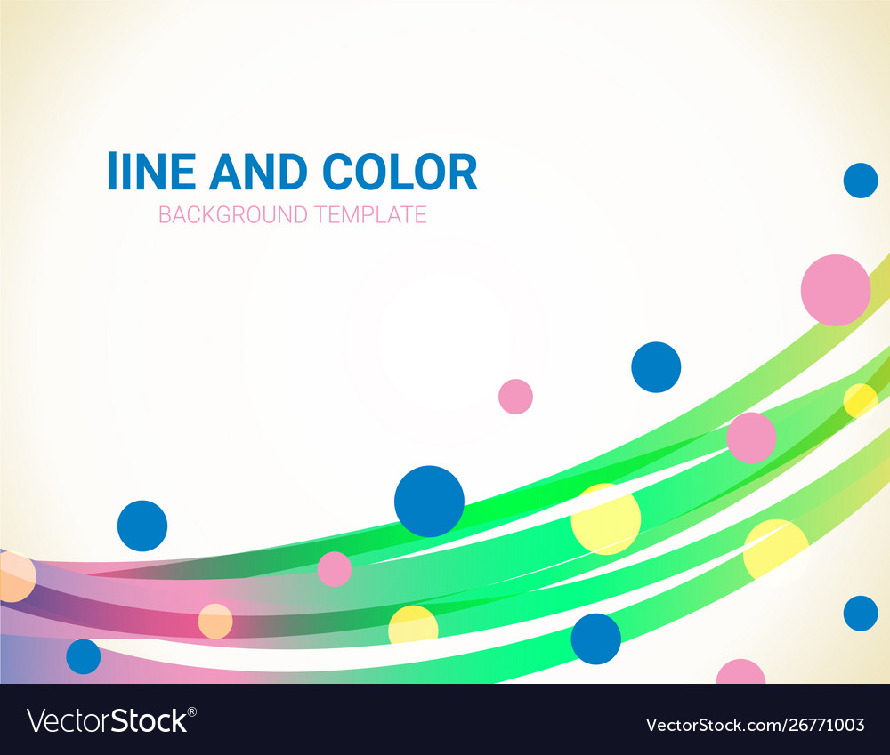 Abstract wavy lines and dots background