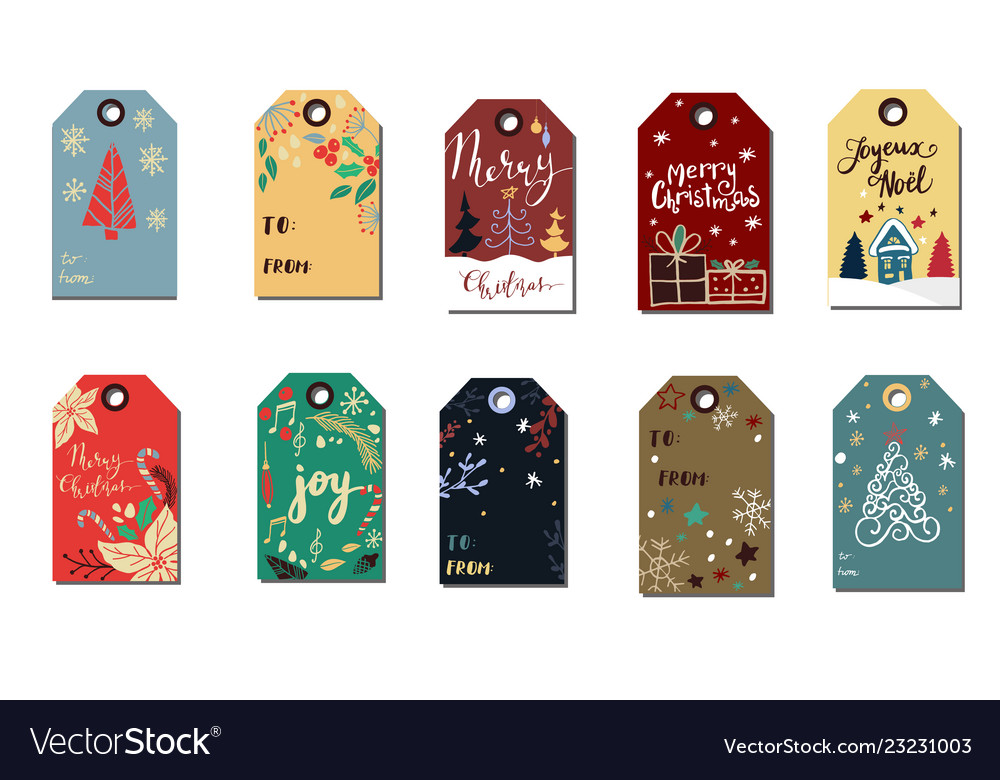 Christmas tags cute collection