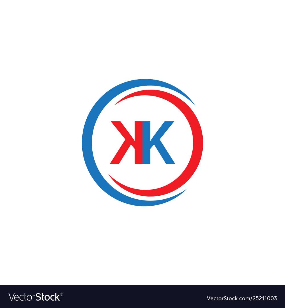Kk Company Logo Template Design Royalty Free Vector Image