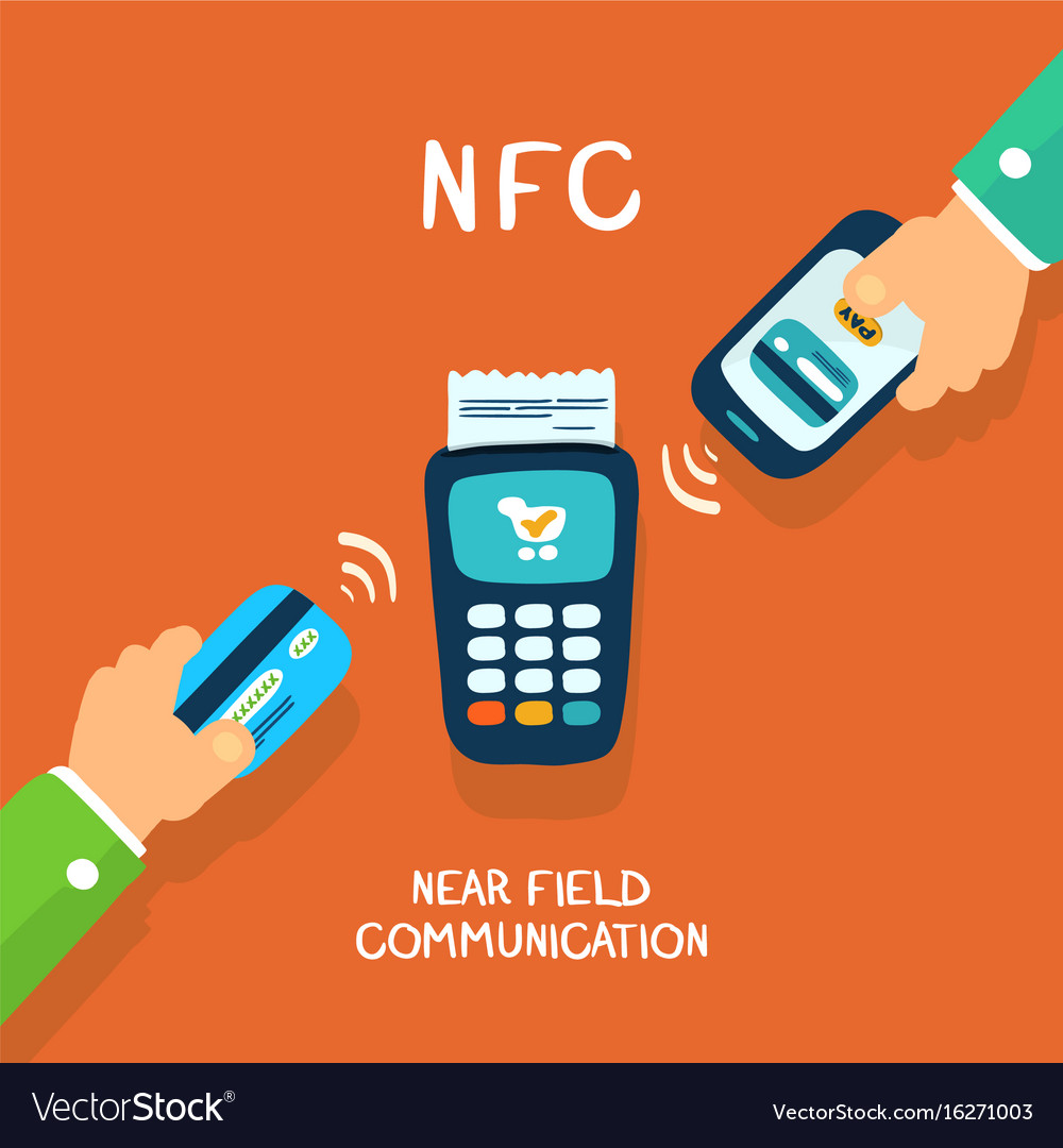 Nfc payment Royalty Free Vector Image - VectorStock