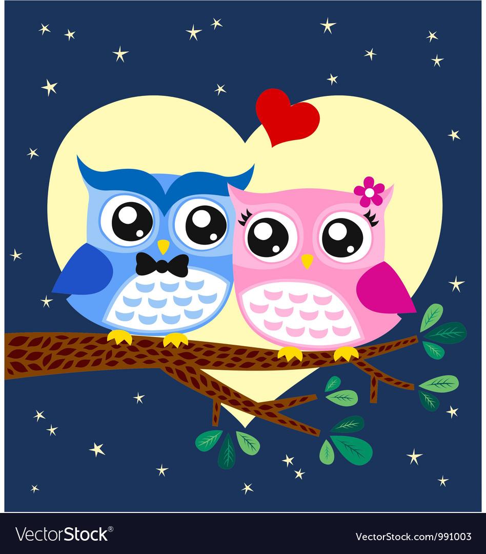 Owl couple at tree