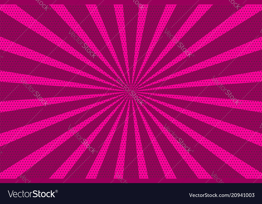 Pop art vintage radial halftone background
