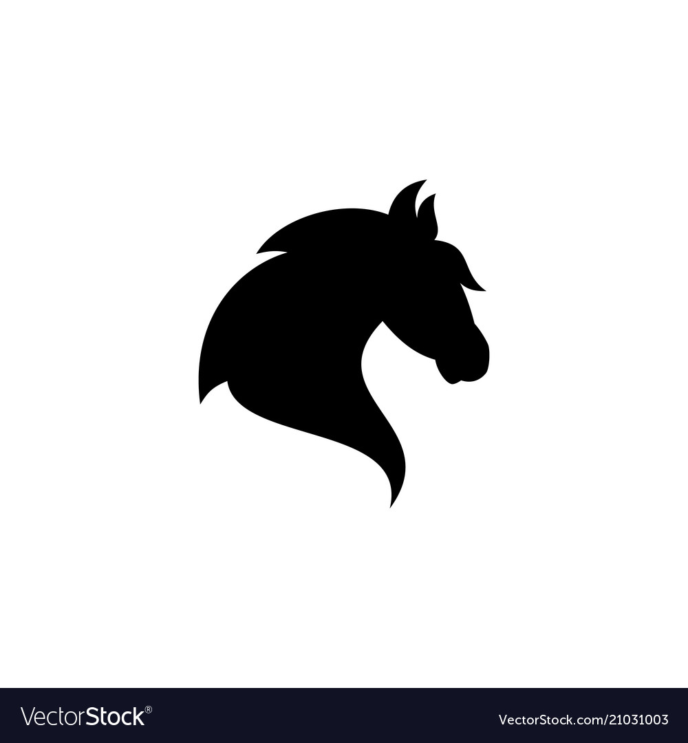 Silhouette Head Horse Royalty Free Vector Image