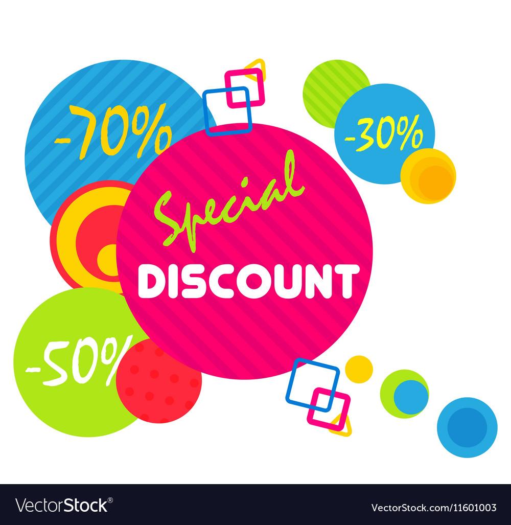 Special offer sale tag discount symbol mega sale
