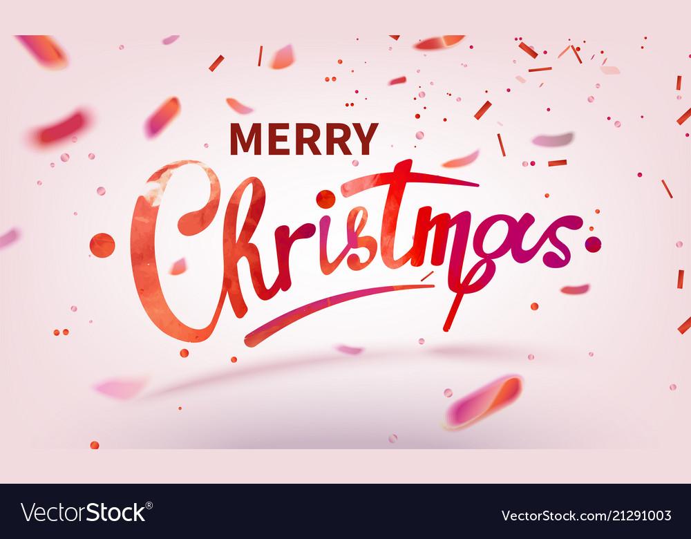 Stock text merry christmas