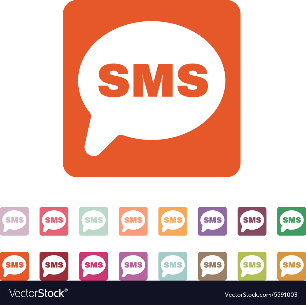 The Sms Icon Text Message Symbol Flat Royalty Free Vector