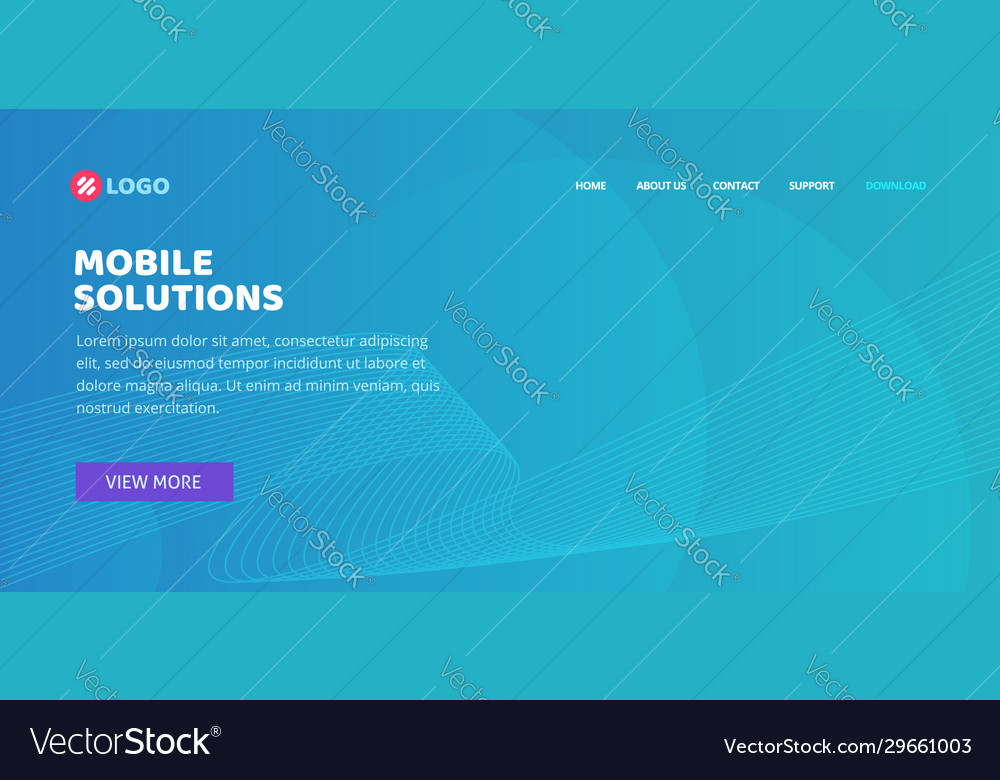 Website landing page layout design or web page