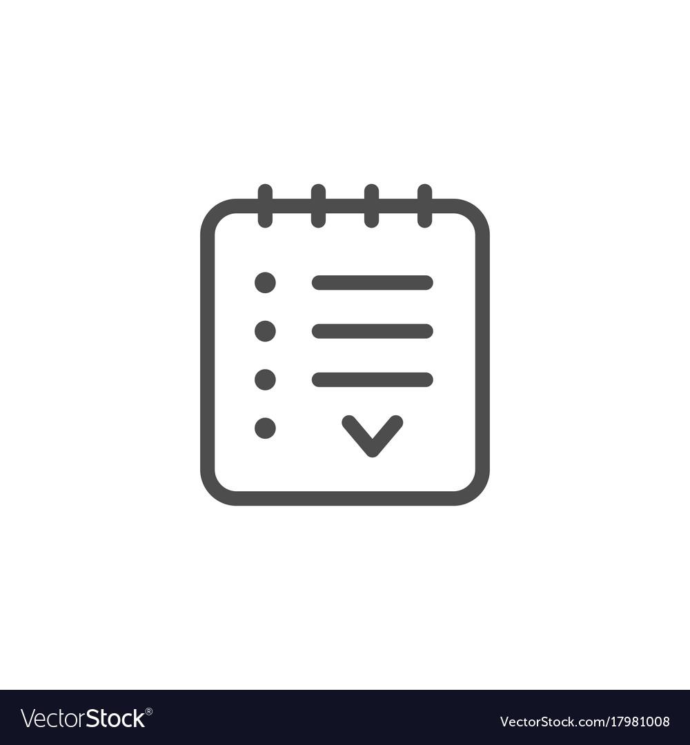 Agreement line icon