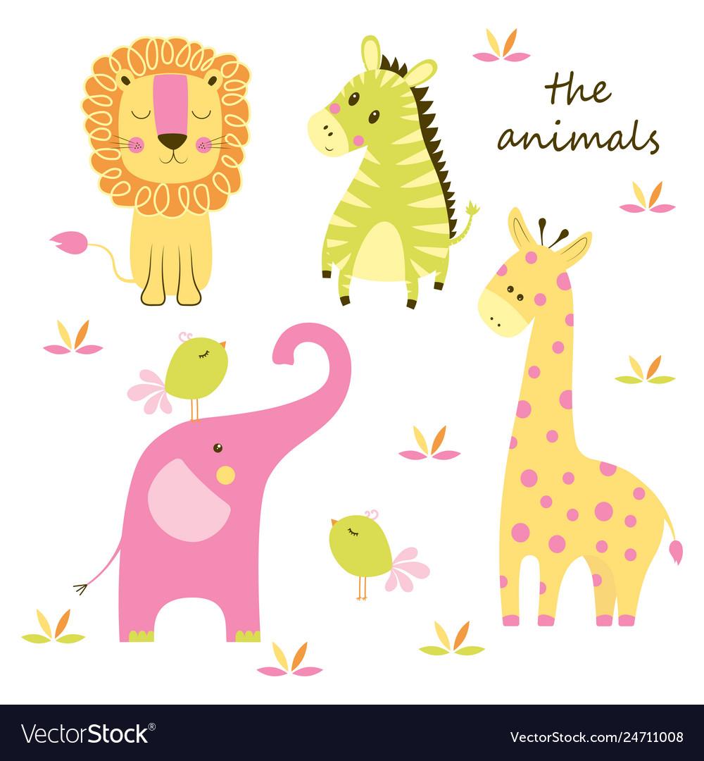 Animal scandinavian set