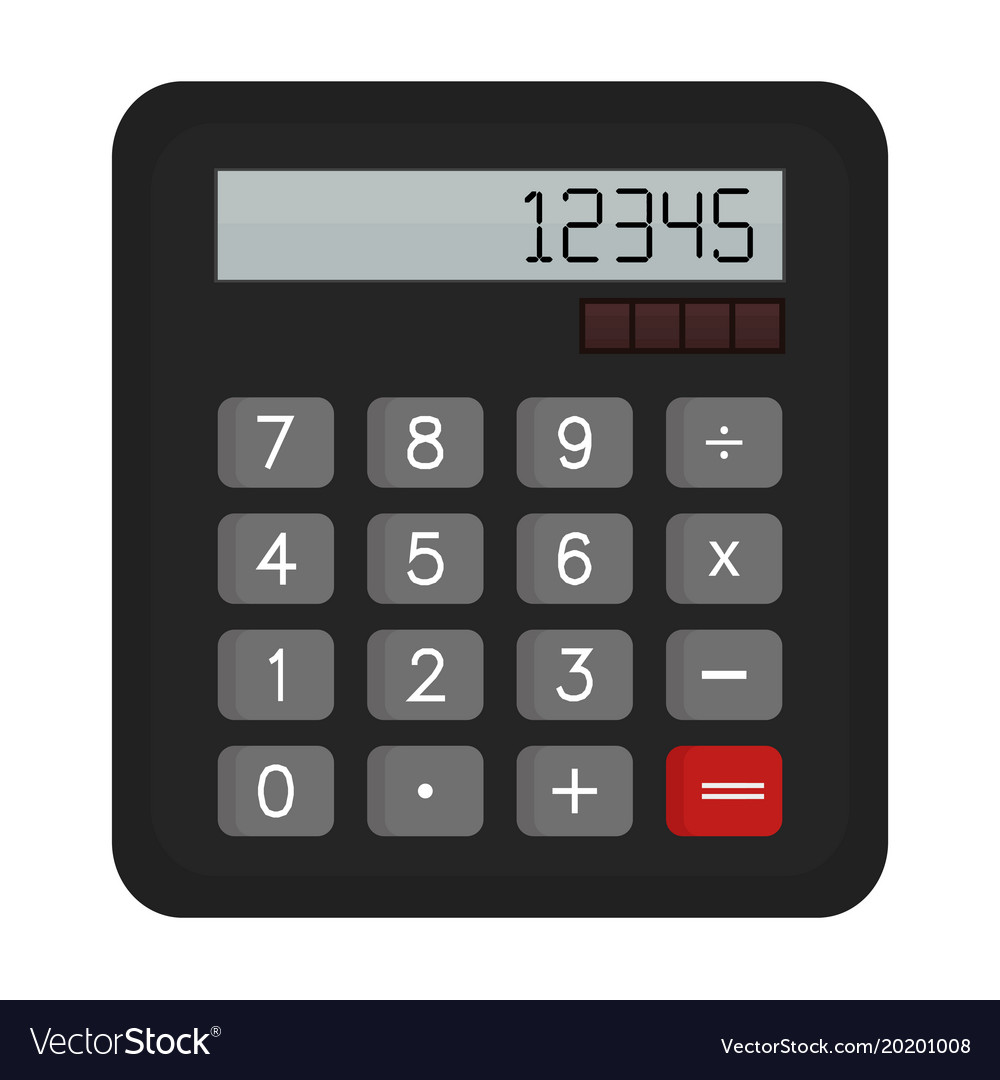 calculator royalty free vector image vectorstock