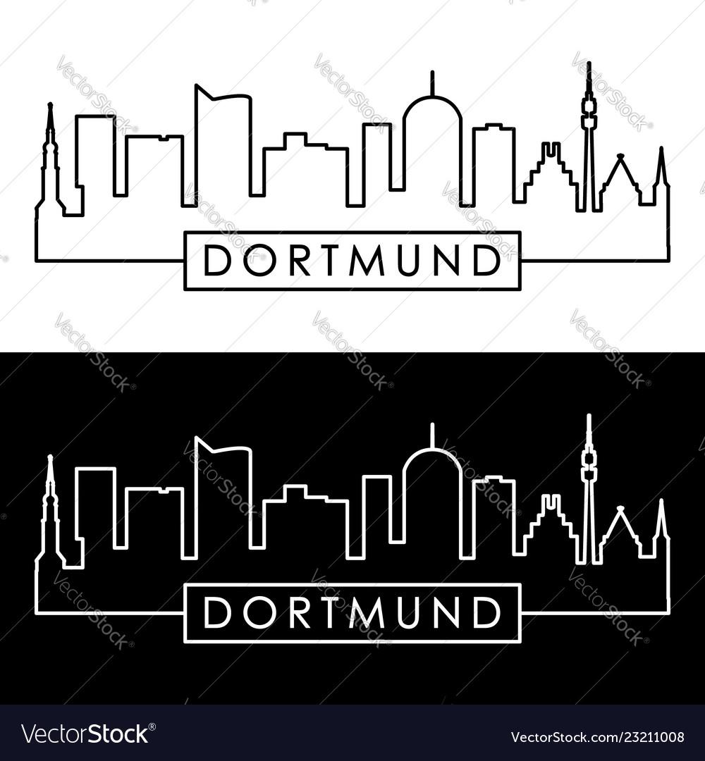 Dortmund skyline linear style editable file
