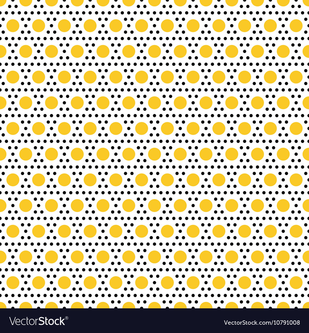 Gold and black dots seamless pattern