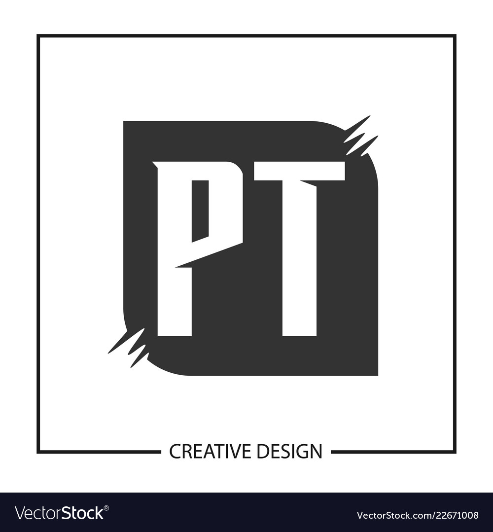 initial letter pt logo template design royalty free vector