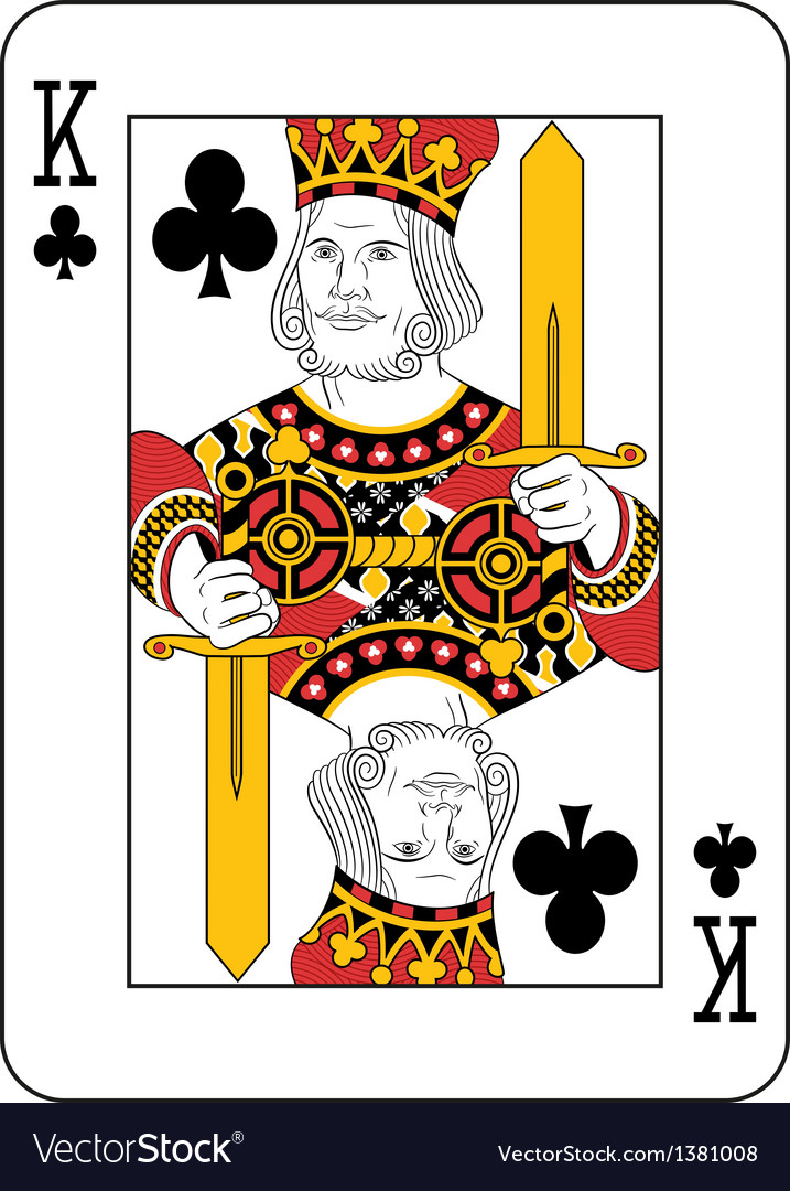 king of clubs royalty free vector image  vectorstock