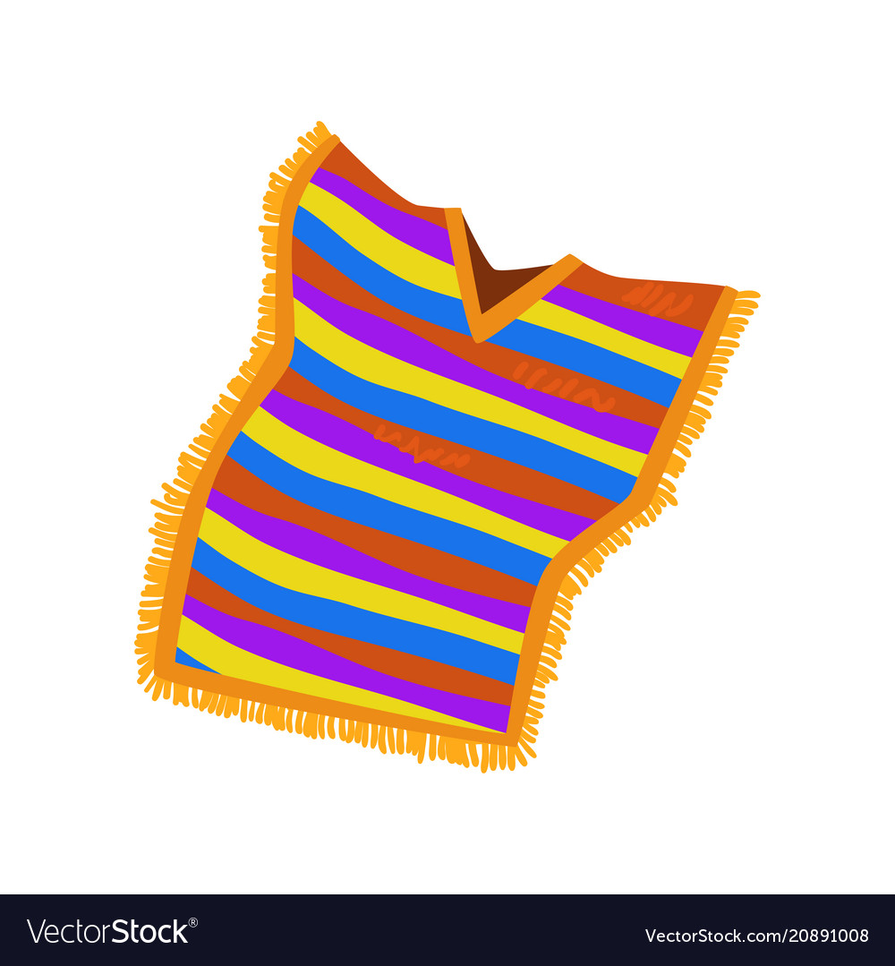 Mexican poncho on a white