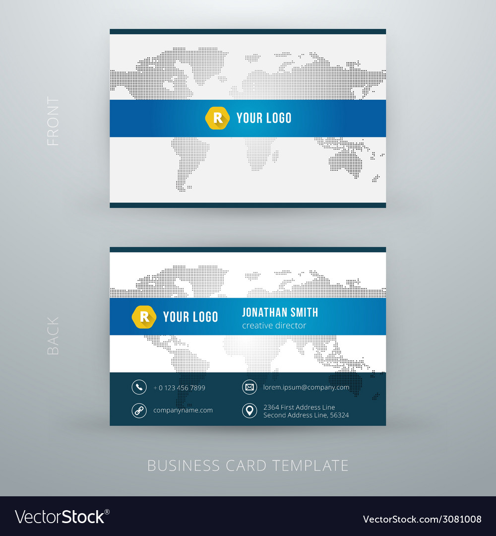 Modern simple business card template royalty free vector modern simple business card template vector image wajeb Choice Image