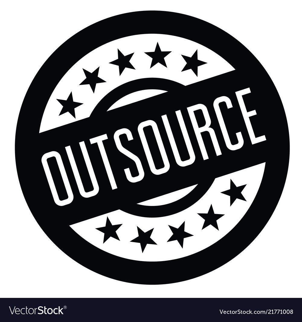 Outsource rubber stamp vector image on VectorStock