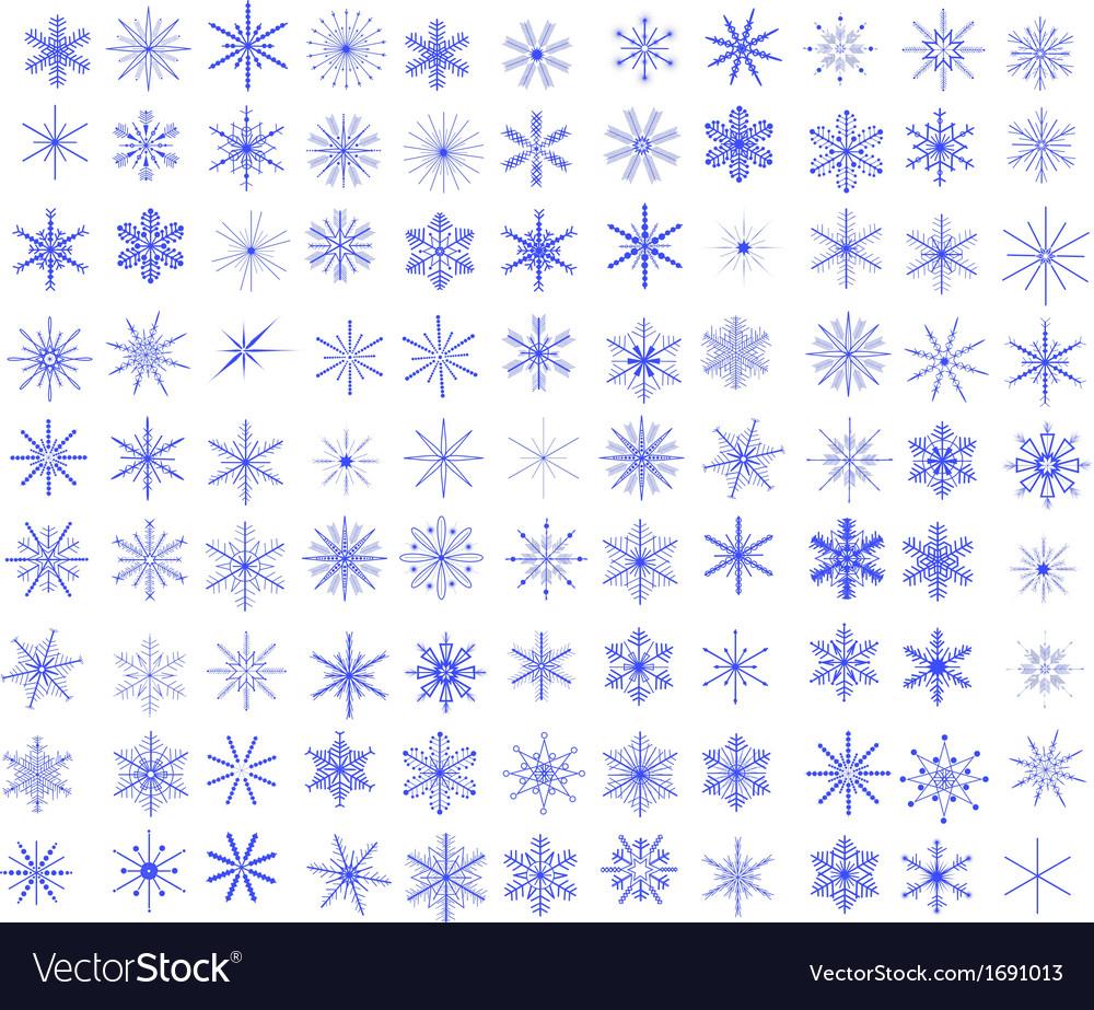 99 Snowflakes vector image