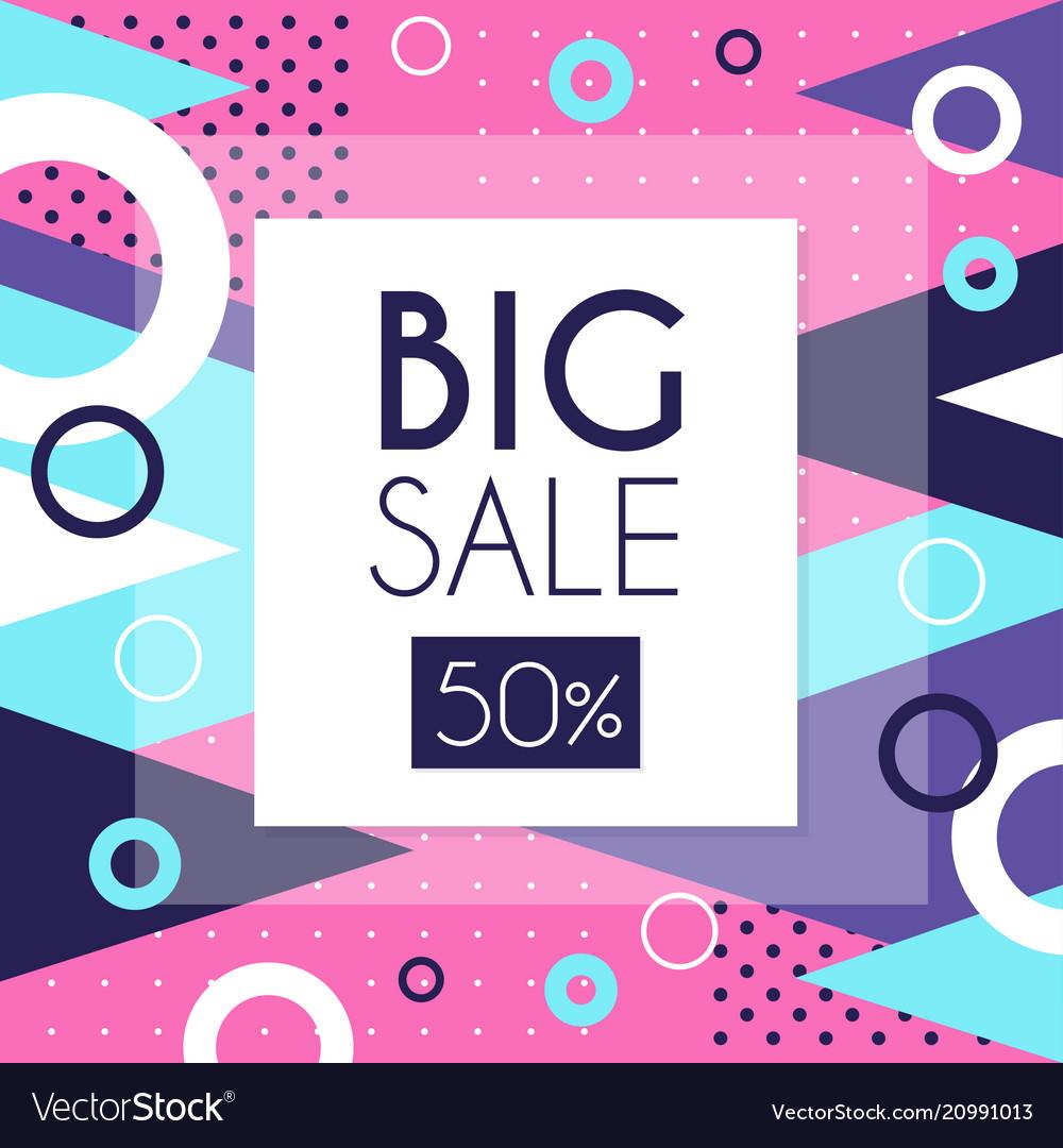Big sale 50 percent off banner template design