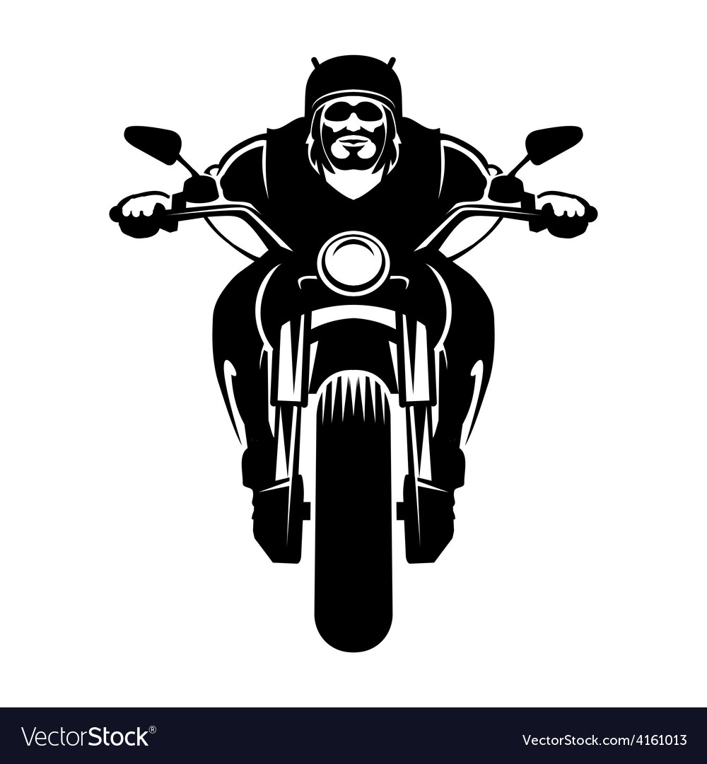 biker icon man on a motorcycle royalty free vector image rh vectorstock com motorcycle vector art motorcycle vector logo