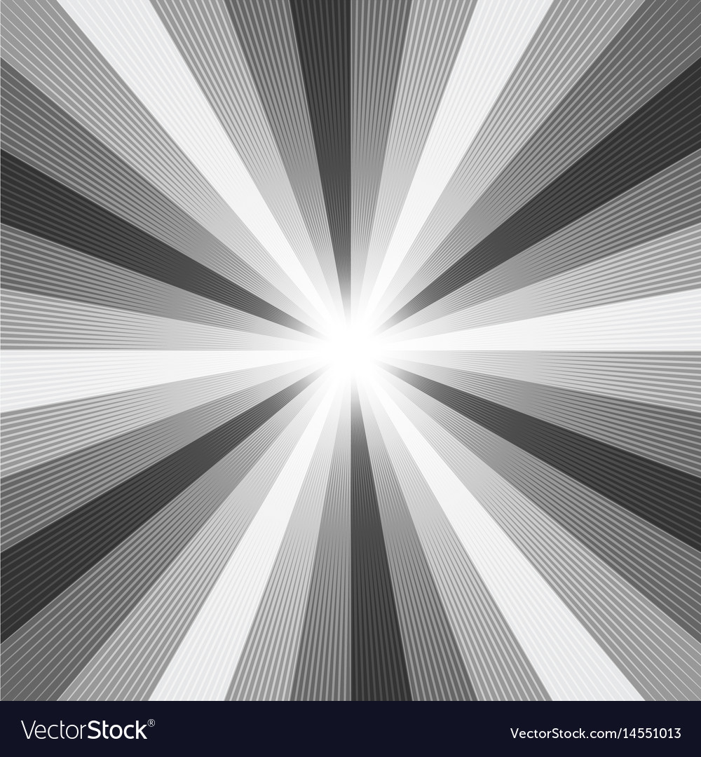 Black and white light ray abstract background