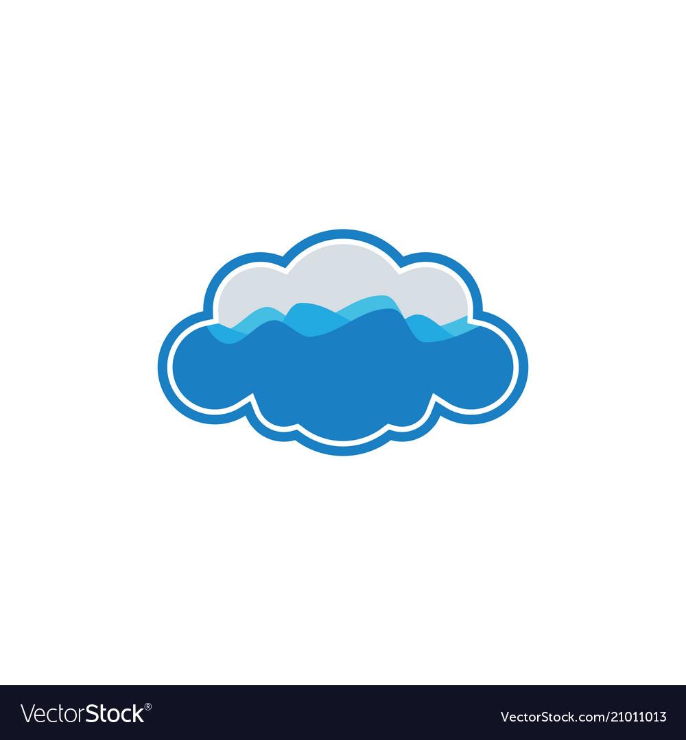 Cloud wave logo