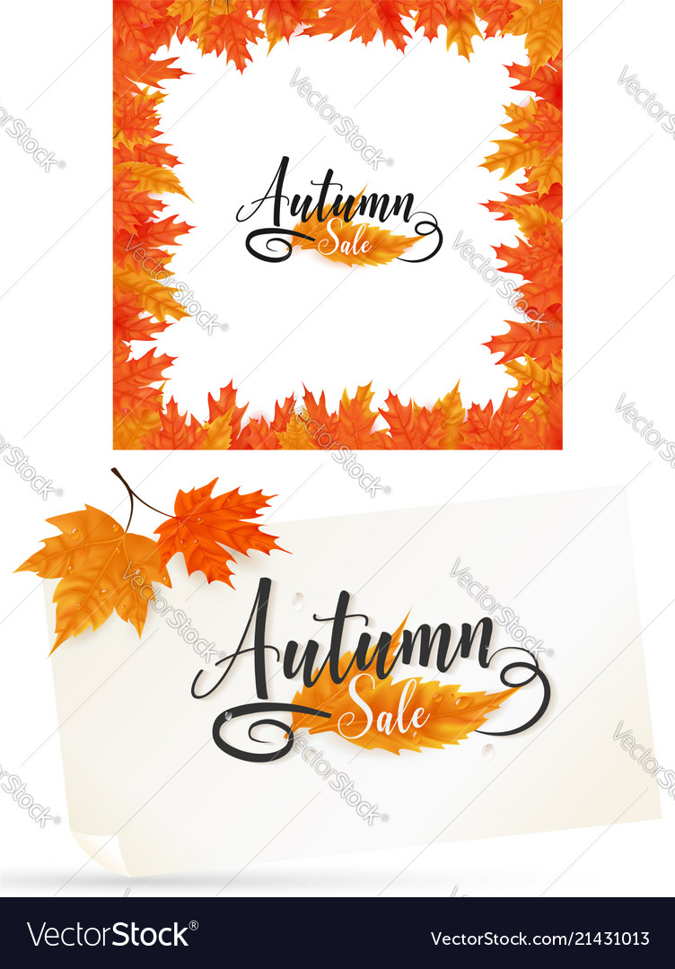 Fall background and frame