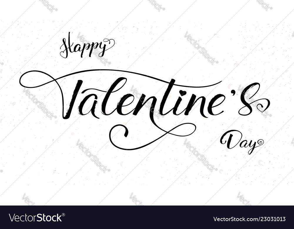 Happy valentines day calligraphy in handwritten