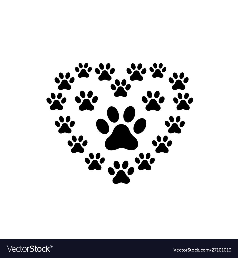 Pet paw love logo