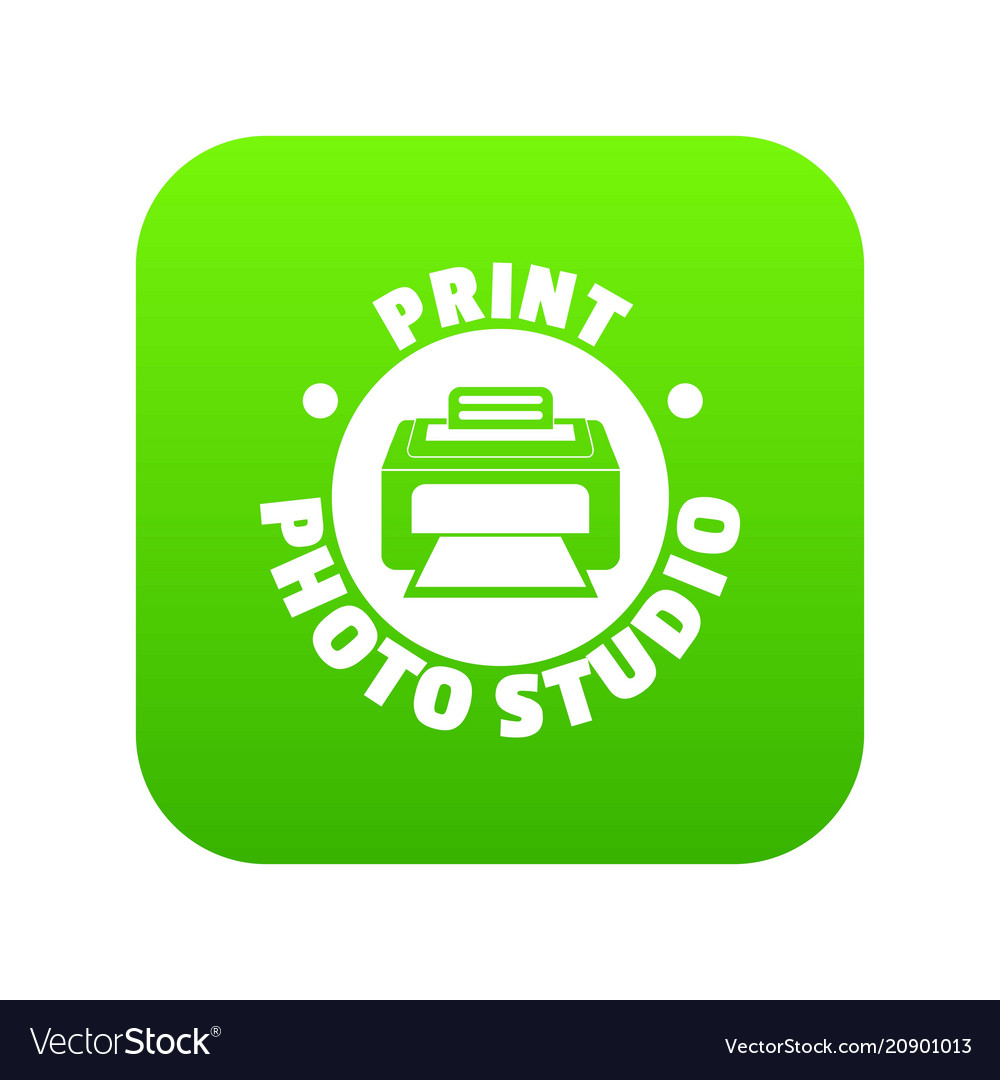 Print photo studio icon green