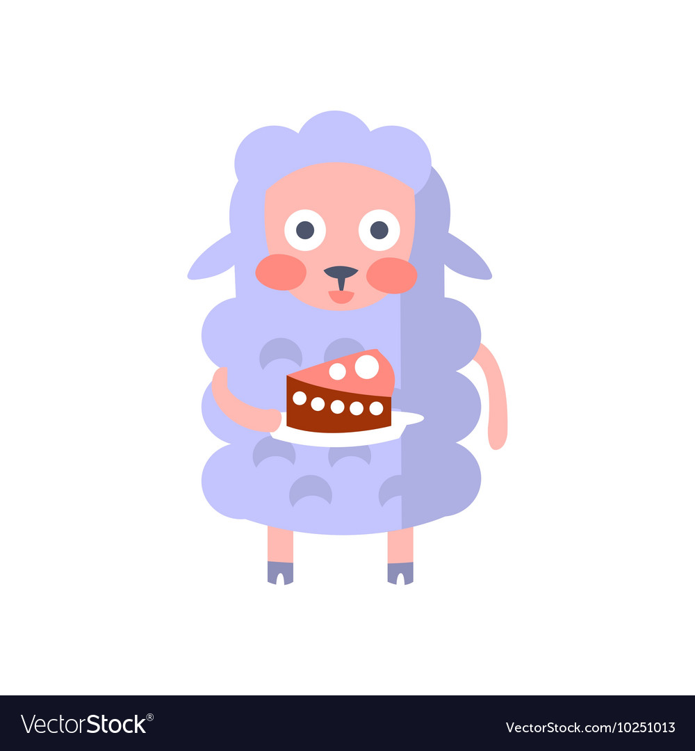 Sheep With Party Attributes Girly Stylized Funky