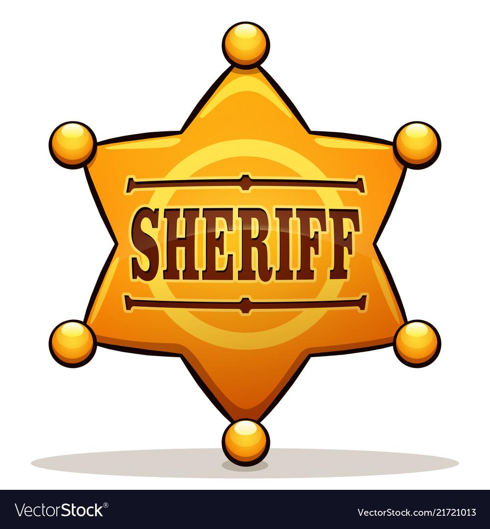 Sheriff badge color design