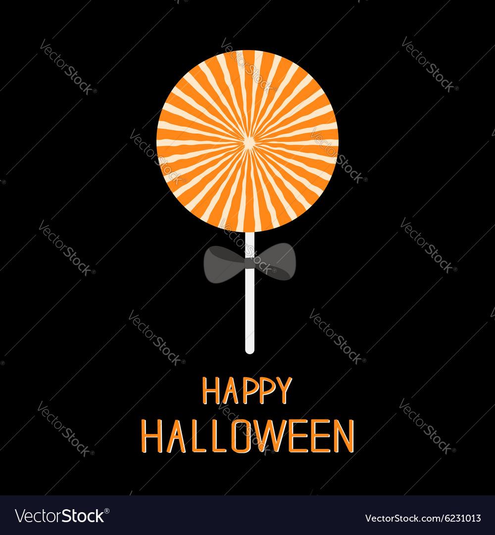 Sweet candy lollipop with starburst pattern Black