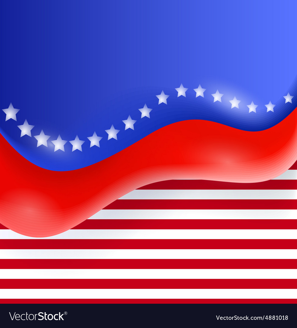 Abstract of an Independence Day vector image