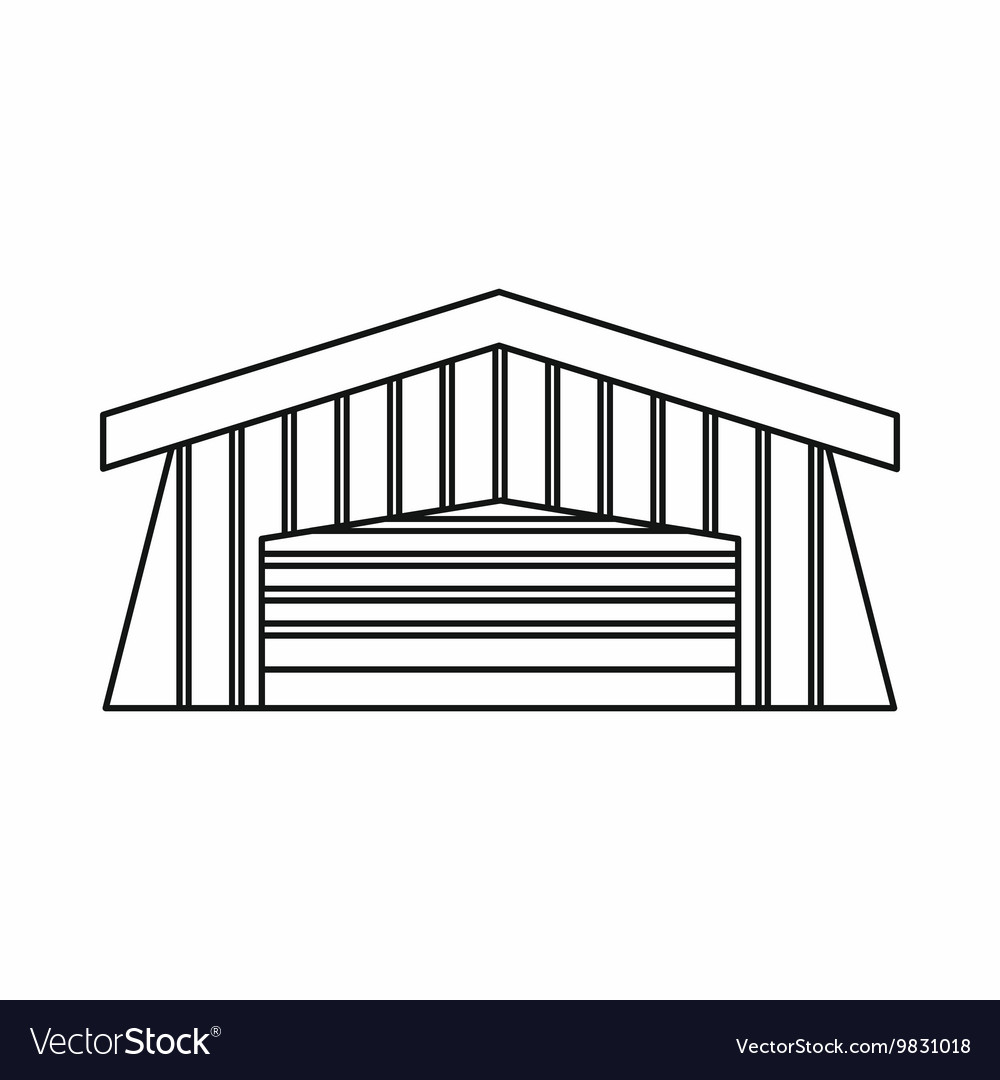 Barn icon outline style