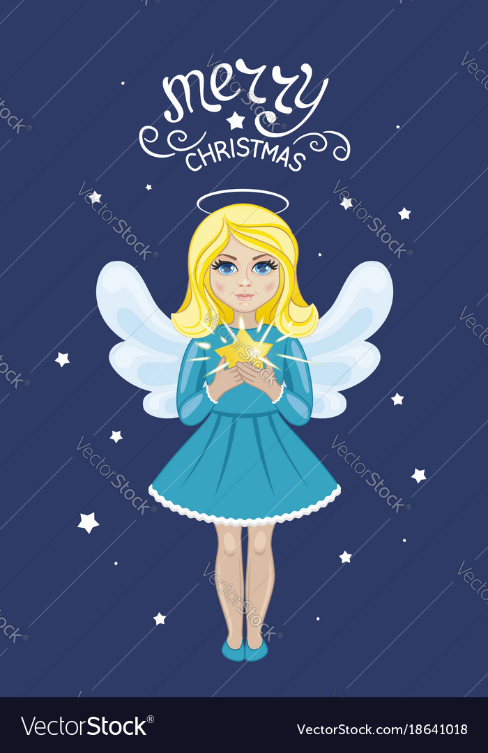 Christmas angel with star