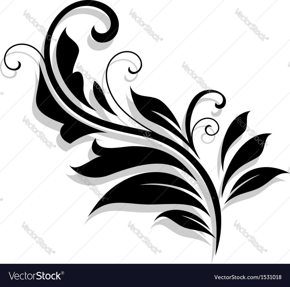 Decorative floral design element
