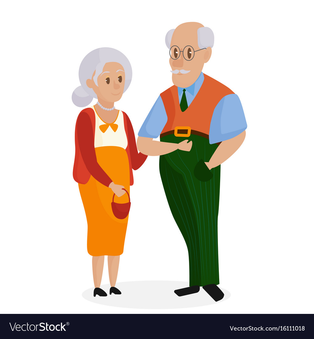 Happy grandparents together isolated grandparents