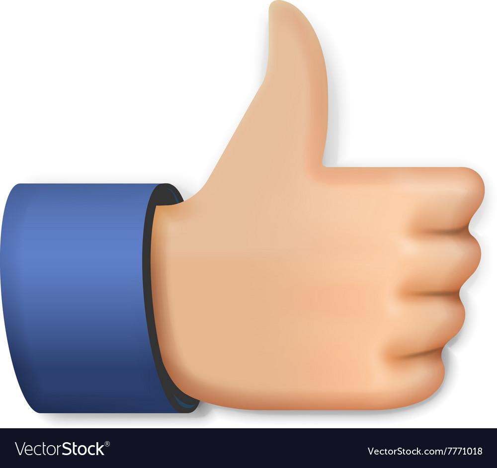 Like Icon Emoji Thumb Up Symbol Royalty Free Vector Image