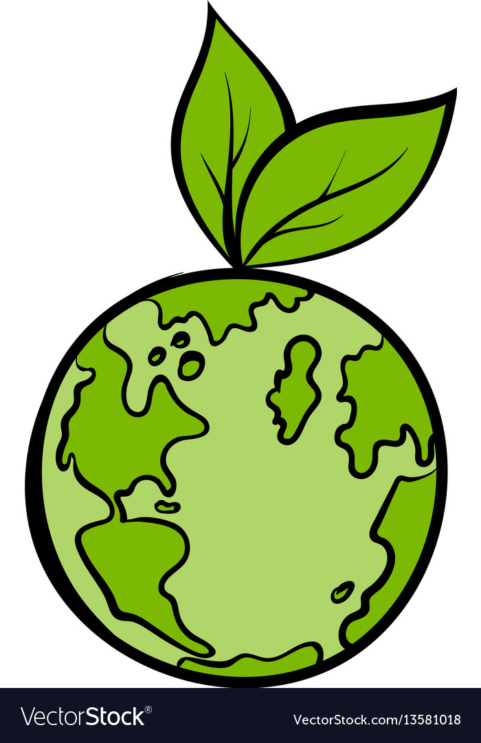 Natural world icon cartoon