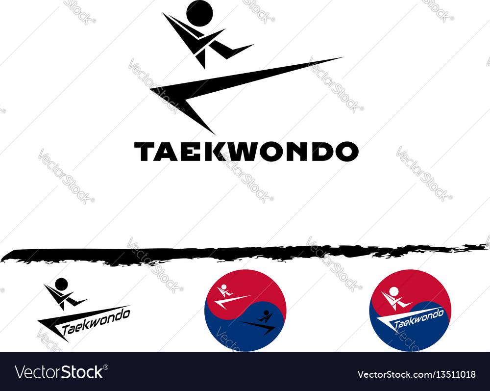 Set taekwondo logo