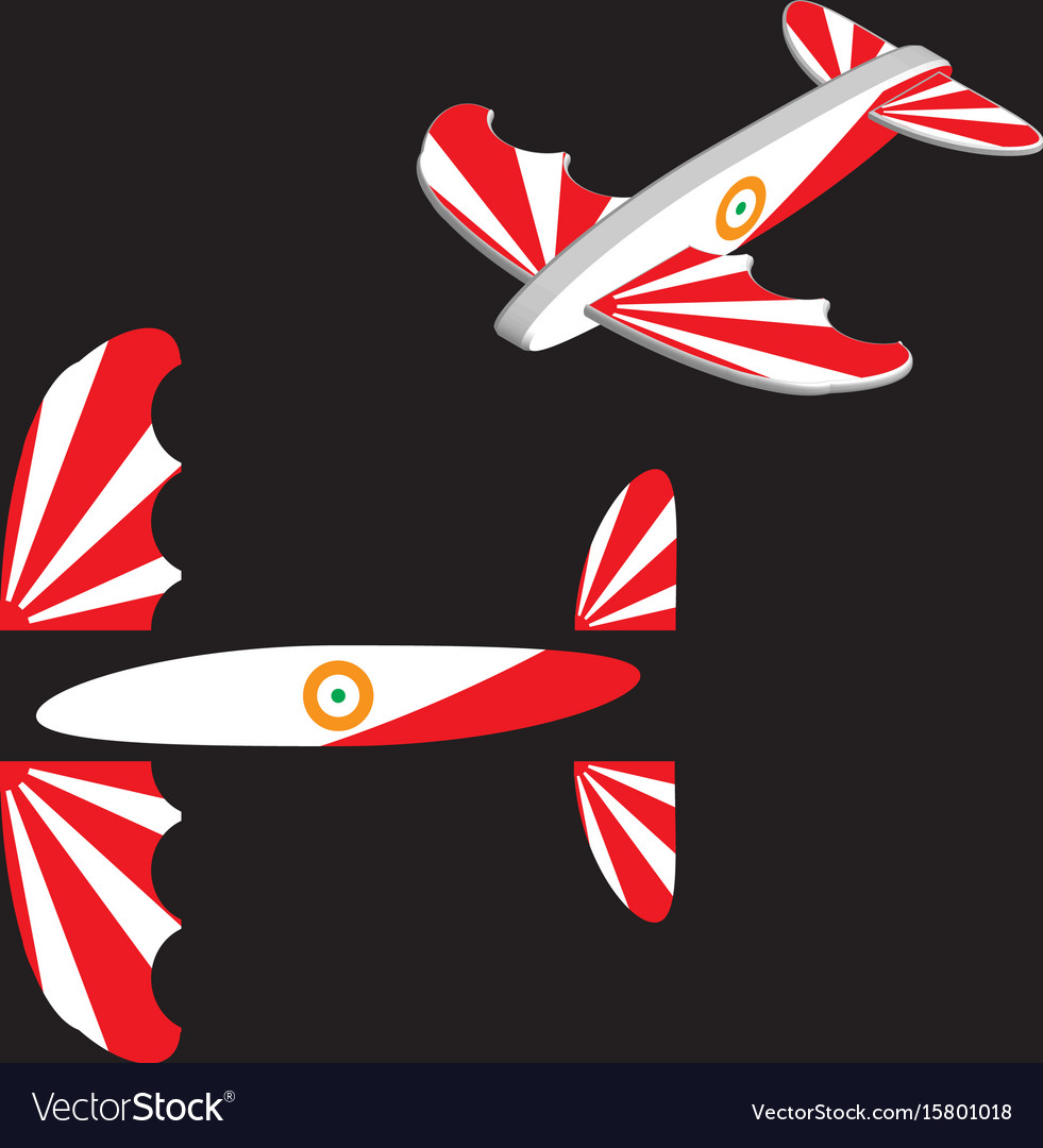 Toy plane airplane eps 10 vector image
