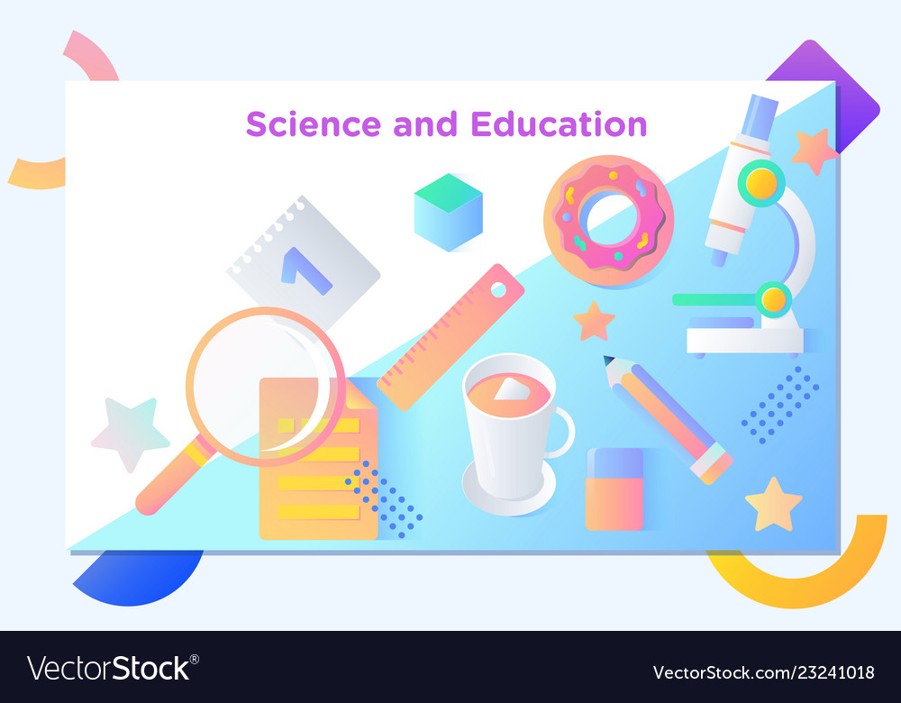 Website or mobile app landing page of science and