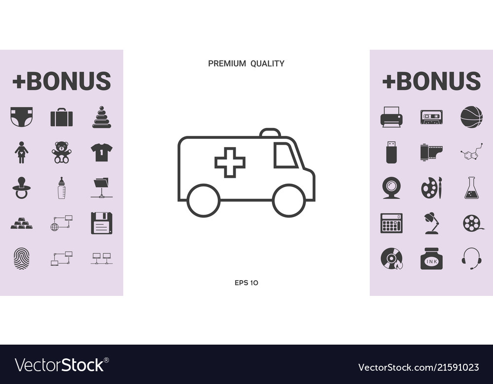 Ambulance line icon - graphic elements for your