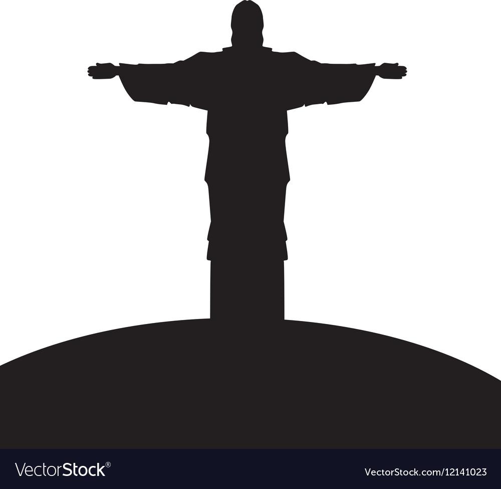 Corcovado christ silhouette icon