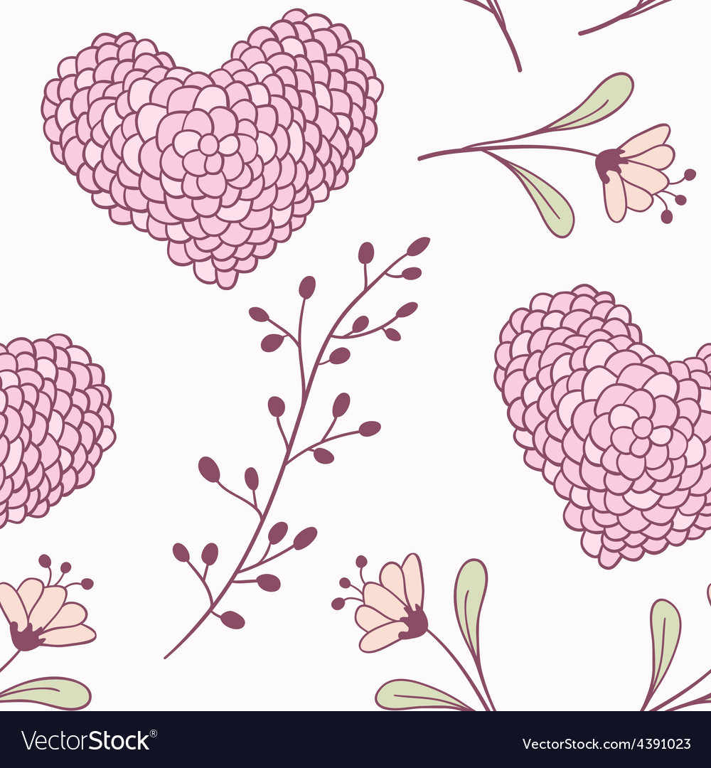 Handdrawn floral seamless pattern