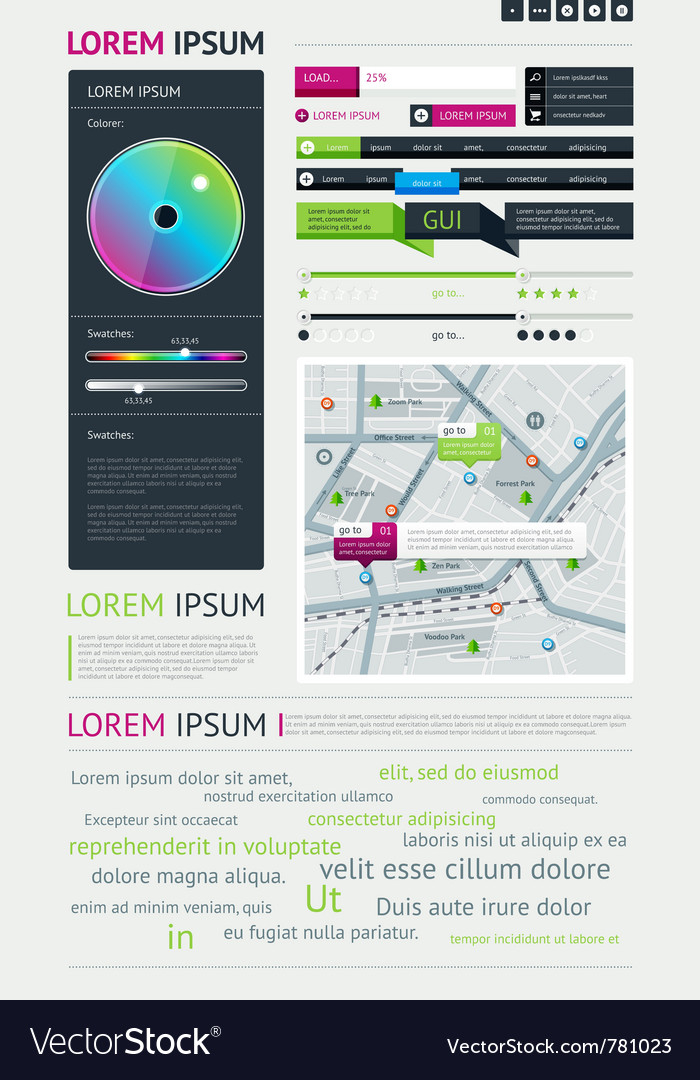 User interface for web vector image