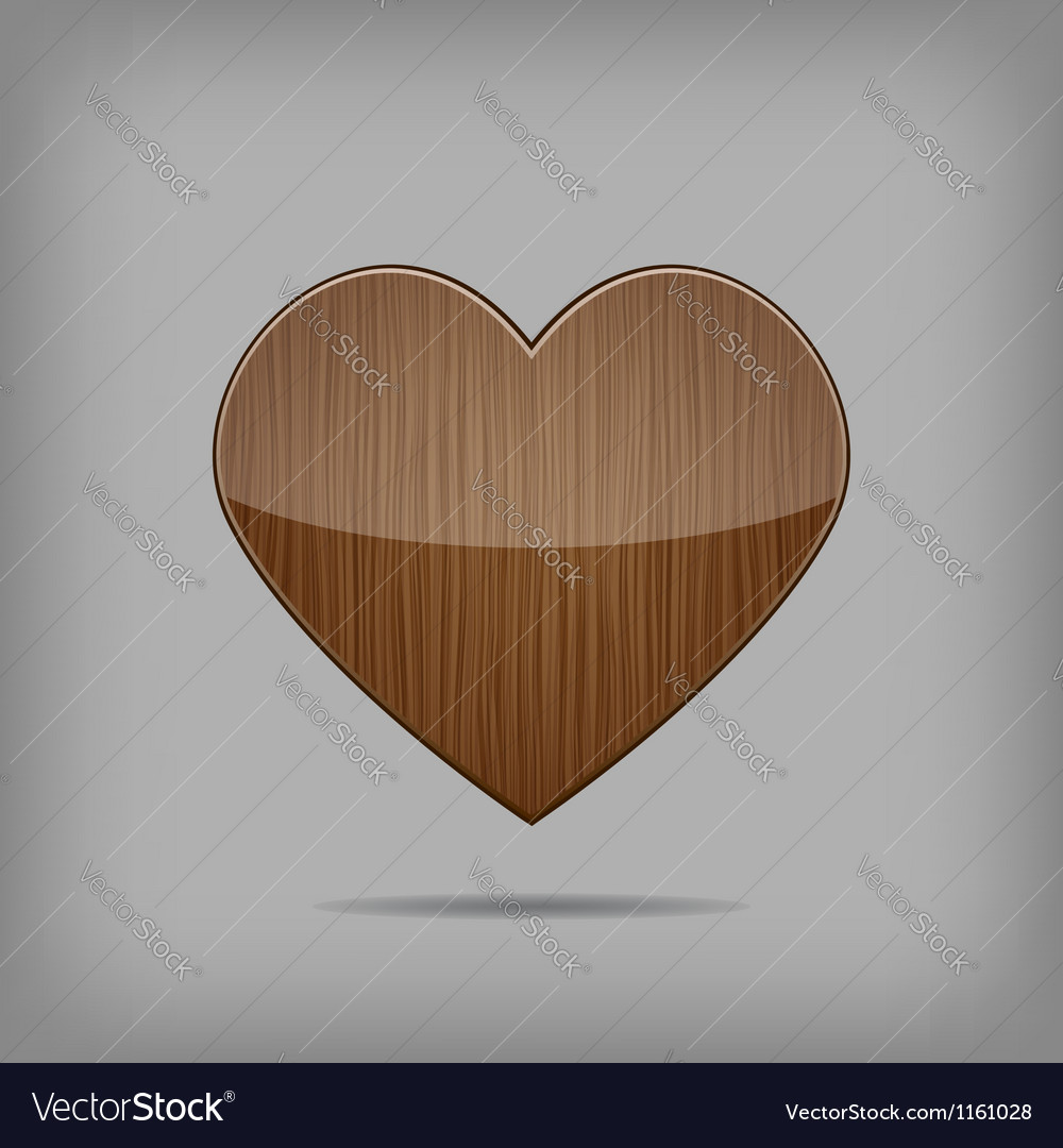 Creative wooden heart vector image