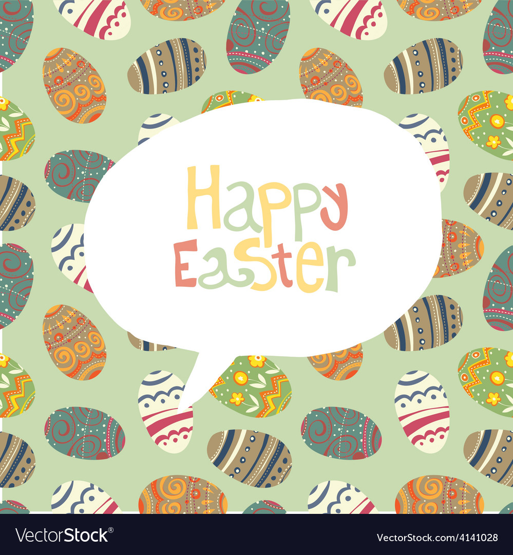 Easter greeting card retro